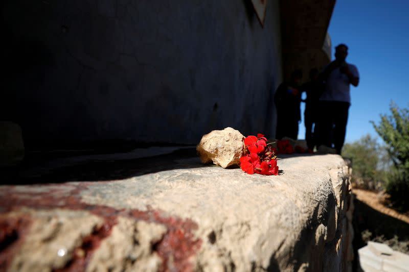 Scene where Hamas militants were killed by Israeli forces in West Bank
