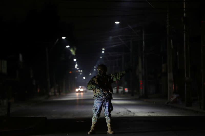 Chile's military moves through shadows to spot coronavirus curfew breakers