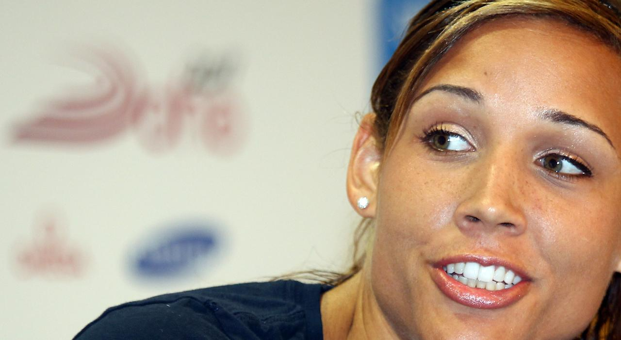 US hurdler Lolo Jones, during a press conference on the eve of the IAAF Diamond League series in Doha, Thursday May 5, 2011.