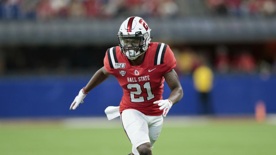 Ball State cornerback Antonio Phillips has responded to tragedy by carrying his brother's NFL dreams on for the family. (AP Photo/AJ Mast)