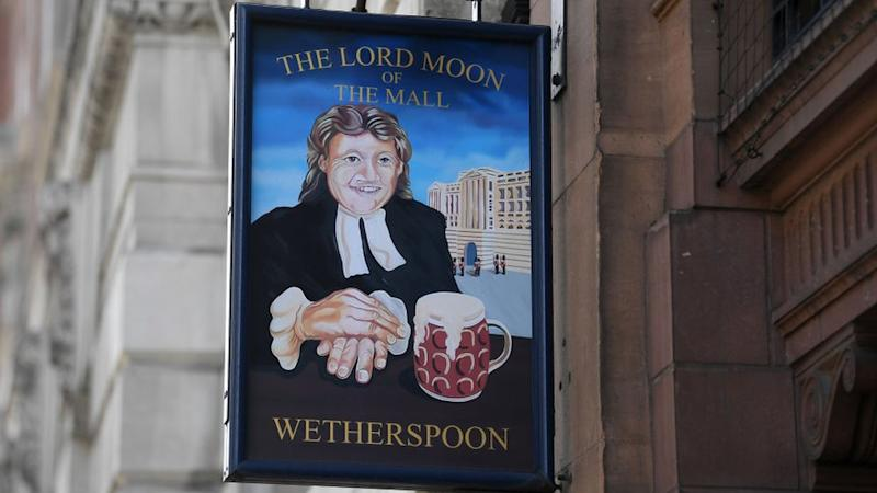 Wetherspoon sign