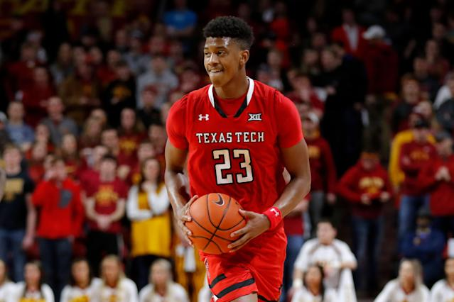 Texas Tech guard Jarrett Culver is doing anything it takes to put Texas Tech in the next round. (AP Photo/Charlie Neibergall)
