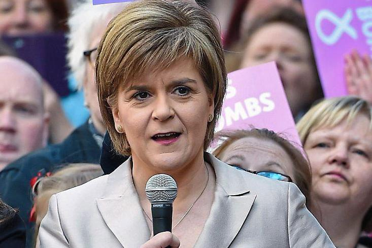 Round two: Nicola Sturgeon has called for another Scottish independence referendum