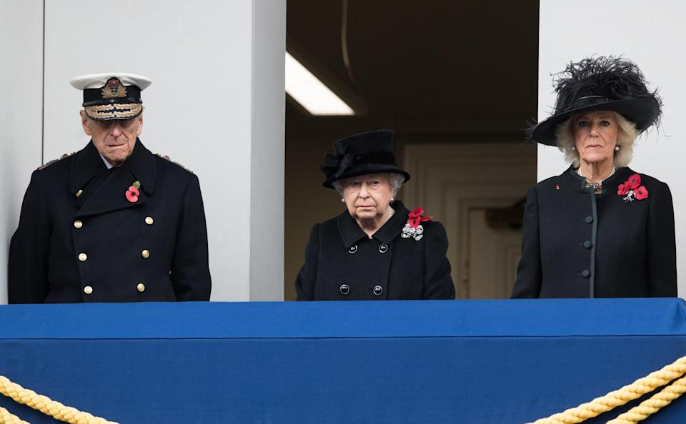 """<p>According to palace officials, the Queen decided to watch the ceremony from the Foreign Office as she preferred to join her husband Philip (who had retired from official duties in the summer). It was a historic shift in the Queen's 65-year-old reign and more than a few took notice:<br>""""She is getting a bit older now so it's probably fitting that he does start taking this on,"""" said Regimental Sergeant Major Kevin Stacey.</p>"""