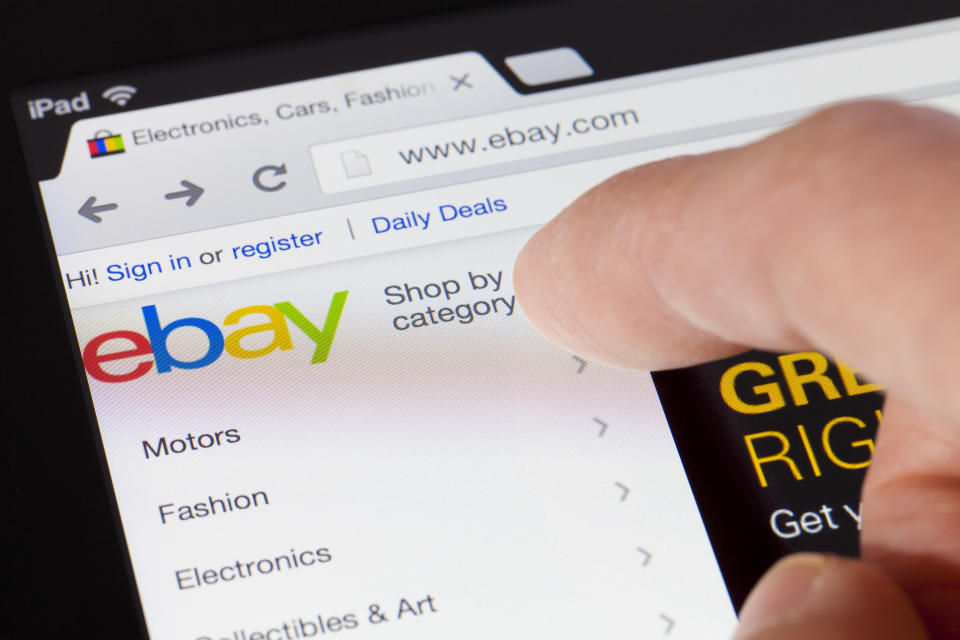 Browsing the eBay webpage on an iPad. (Photo: Getty)