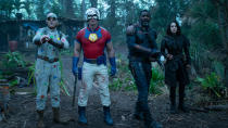 """With this year's excellent <em>Birds of Prey</em>, DC finally allowed itself to relax and get weird. That certainly seems set to continue with James Gunn's <em>The Suicide Squad</em>, seeking to banish the spectre of David Ayer's critically reviled 2016 movie. Gunn has assembled a <a href=""""https://uk.movies.yahoo.com/james-gunn-suicide-squad-cast-203816210.html"""" data-ylk=""""slk:packed roster of characters;outcm:mb_qualified_link;_E:mb_qualified_link;ct:story;"""" class=""""link rapid-noclick-resp yahoo-link"""">packed roster of characters</a> and has teased that we shouldn't get too attached to any of them. There will be blood and bedlam. (Credit: Jessica Miglio/DC/Warner Bros)"""