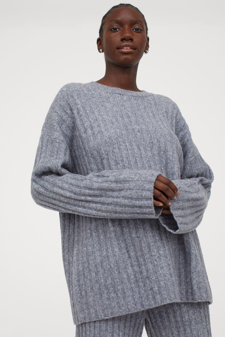 <p>It doesn't get any cozier than this <span>Ribbed Wool-blend Sweater</span> ($50).</p>