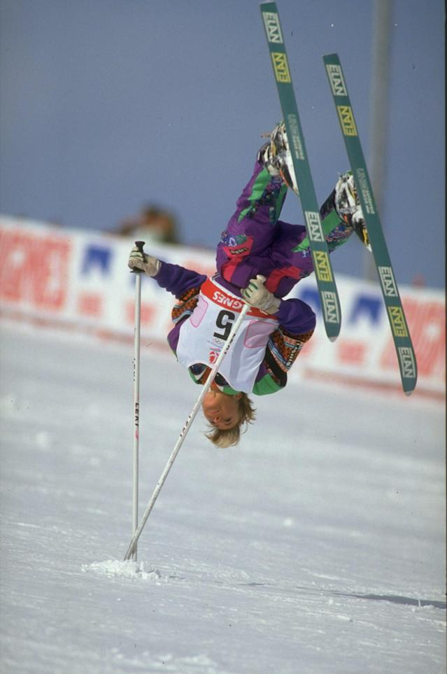 <p>A demo event at the '88 Games in Calgary, Canada and the '92 Games in Albertville, France, ski ballet is best described as figure skating on skis. The event featured jumps, spins and even pole-assisted flips. Like skijoring, it never became an offcial event. (Getty) </p>