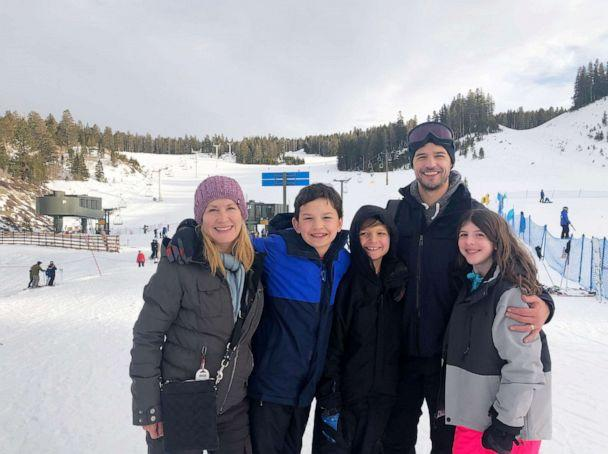 PHOTO: Angela Kinsey with her husband, Joshua Snyder, and kids on vacation together.  (Courtesy of Angela Kinsey)