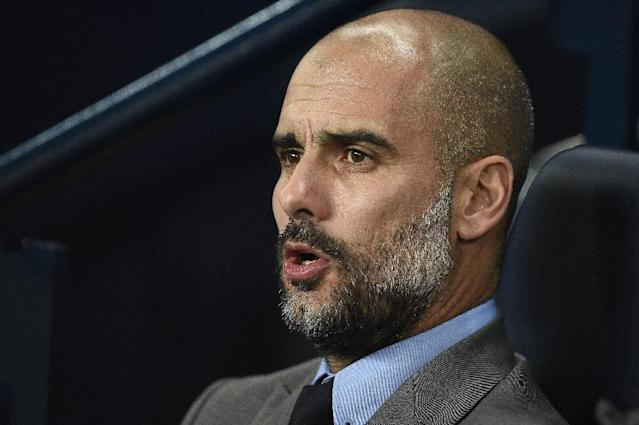 Manchester City's manager Pep Guardiola watches during the UEFA Champions League group C football match between Manchester City and Barcelona at the Etihad Stadium on November 1, 2016 (AFP Photo/Oli Scarff)