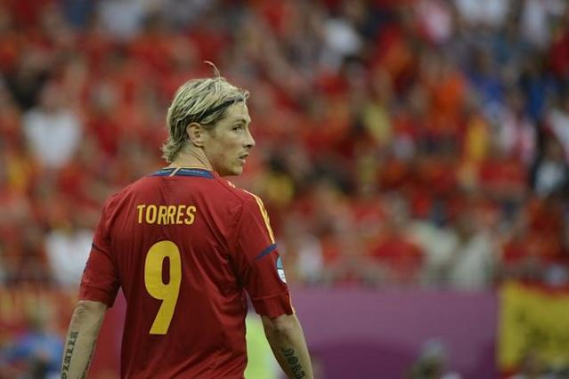 Spanish forward Fernando Torres is pictured during the Euro 2012 championships football match Spain vs Italy on June 10, 2012 at the Gdansk Arena. AFP PHOTO / PIERRE-PHILIPPE MARCOUPIERRE-PHILIPPE MARCOU/AFP/GettyImages