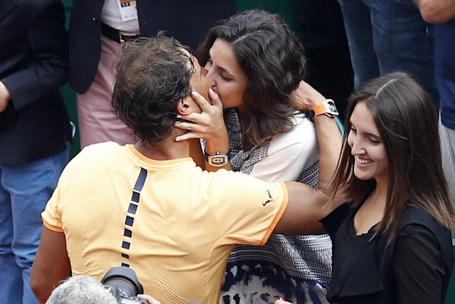 Rafael Nadal and Mery Perello in 2016, after Nadal won the Monte Carlo Masters (Getty Images)
