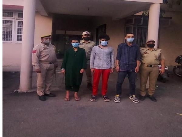 Jammu Police with the accused people in the case