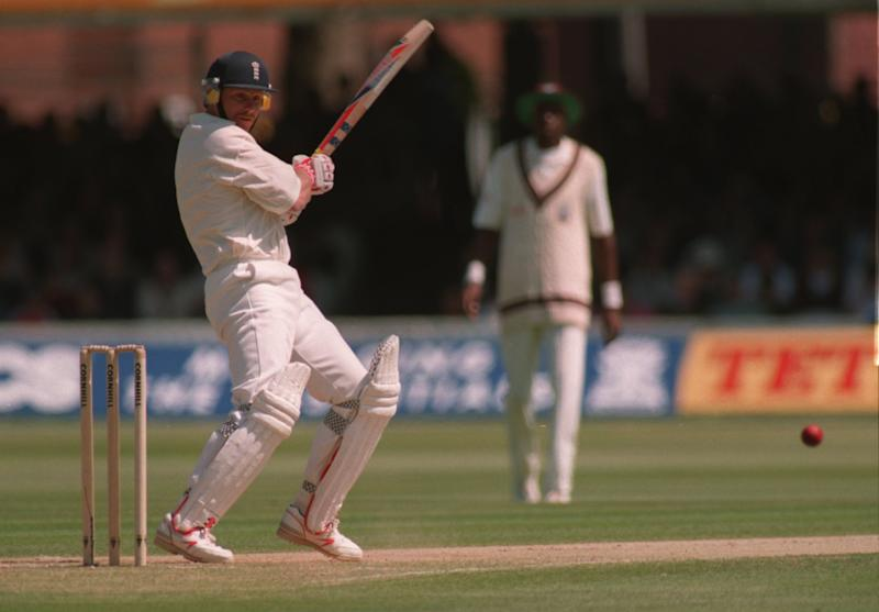 Robin Smith playing for England against the West Indies (Graham Chadwick/ALLSPORT)