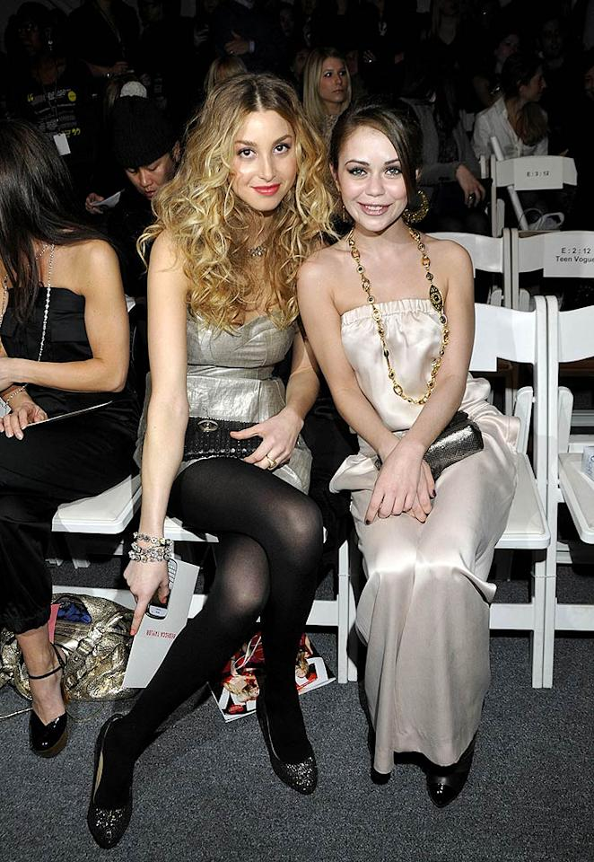 """""""The City"""" starlet Whitney Port and """"When in Rome's"""" Alexis Dziena rocked hot metallics at the Rebecca Taylor collection. Eugene Gologursky/<a href=""""http://www.wireimage.com"""" target=""""new"""">WireImage.com</a> - February 14, 2010"""