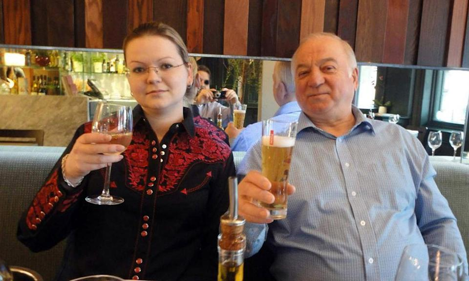 Yulia and Sergei Skripal, pictured prior to the incident. They have since been given new identities.