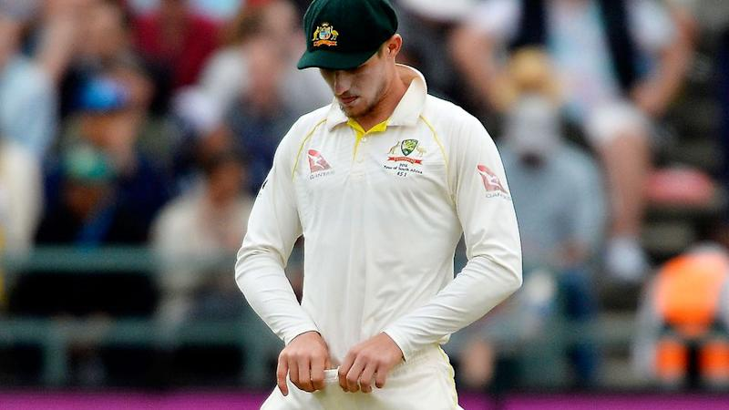 Bancroft inspects his trousers. Pic: Getty