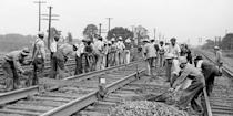 <p>A Gandy Dancer actually has nothing to do with movin' your hips. The title is slang for a railroad worker who maintained the tracks years before the work was done by machines. </p>