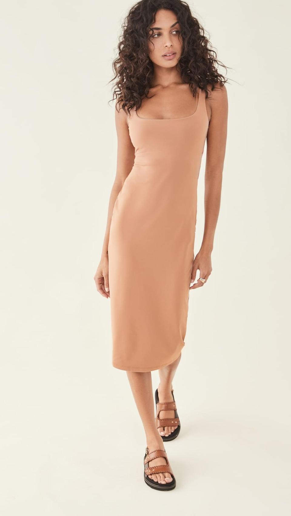 <p>You can wear this <span>Susana Monaco Summer Tank Midi Dress</span> ($158) with sandals or sneakers.</p>