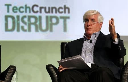 SV Angel's Ron Conway speaks during a question and answer session at the Tech Crunch Disrupt conference in San Francisco in this file photo