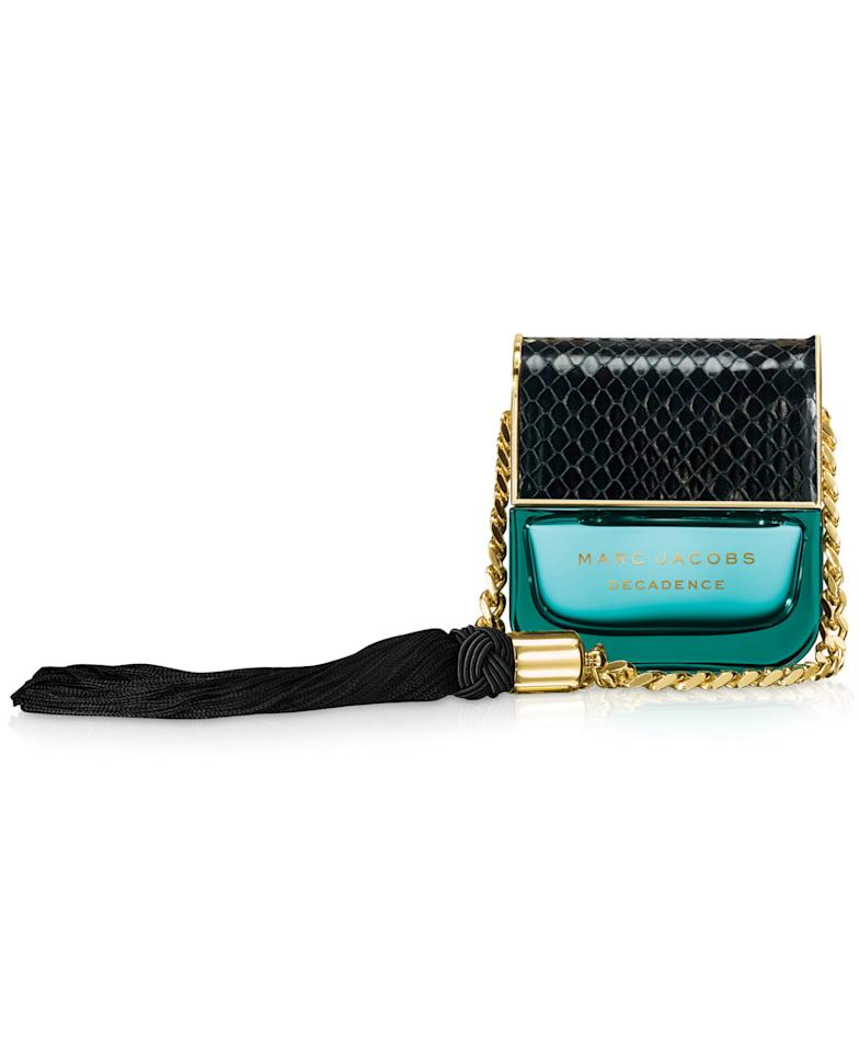 "<p>By far the coolest perfume on shelves right now. The name really says it all. <a href=""http://www.sephora.com/decadence-P400783"">Marc Jacobs Decadence</a> ($95)<br /><br /></p>"