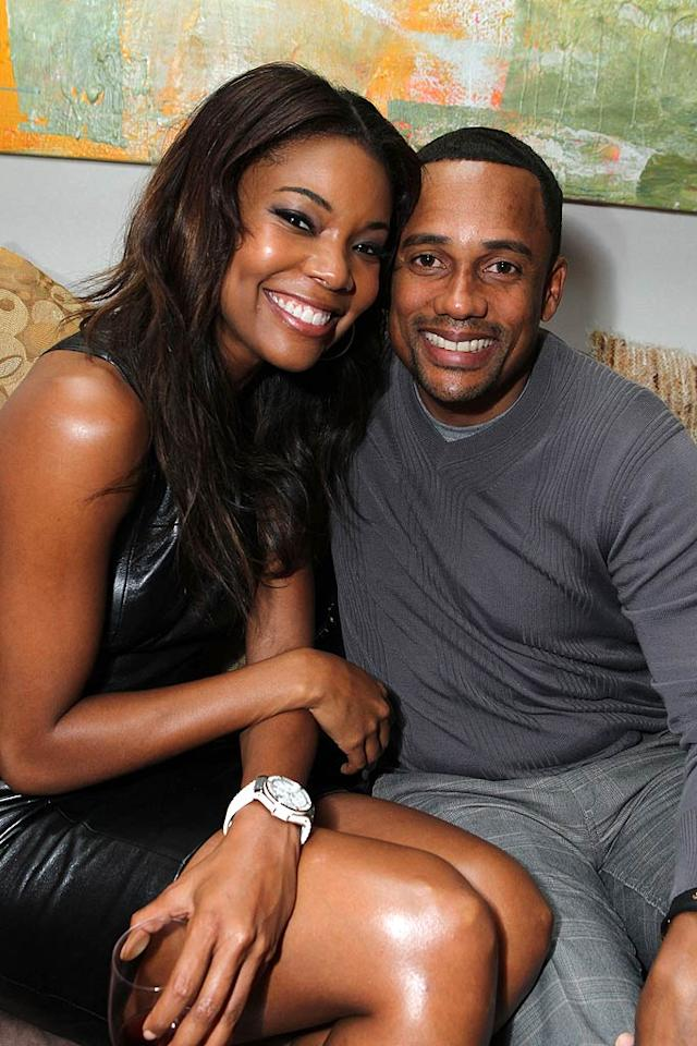 """Longtime friends Gabrielle Union (""""Daddy's Little Girls"""") and Hill Harper (""""CSI: New York"""") also chatted at the fete for the new show. """"La La's Full Court Life"""" premieres Monday at 9 p.m. ET/PT on VH1. Alexandra Wyman/<a href=""""http://www.wireimage.com"""" target=""""new"""">WireImage.com</a> - August 18, 2011"""
