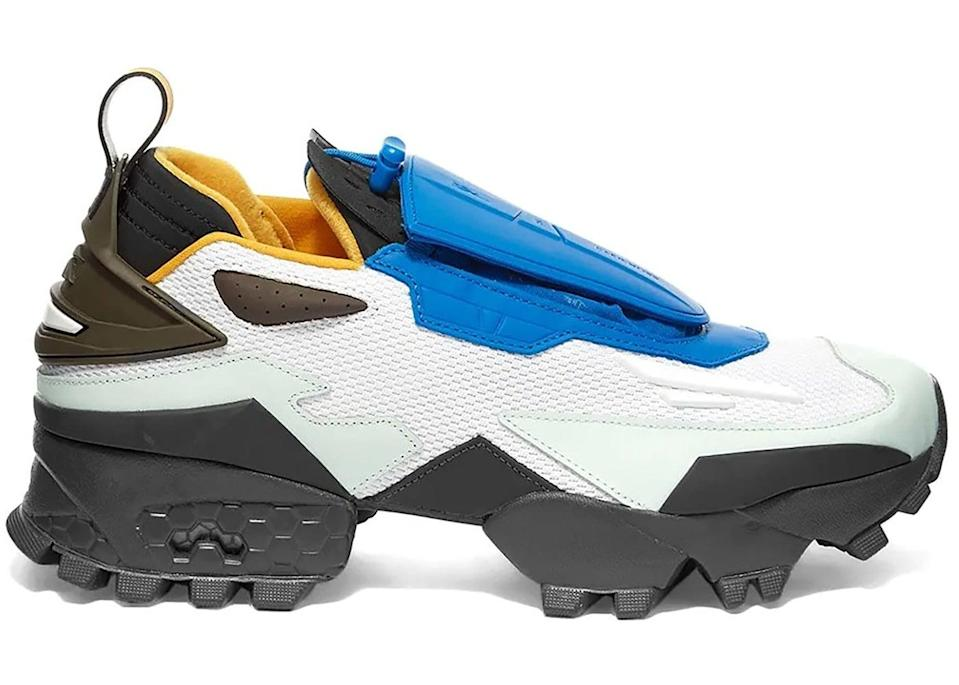<p>We love the pop of blue on these <span>Reebok Experiment 4 Trail Fury Pyer Moss Fresco</span> ($378) sneakers.</p>