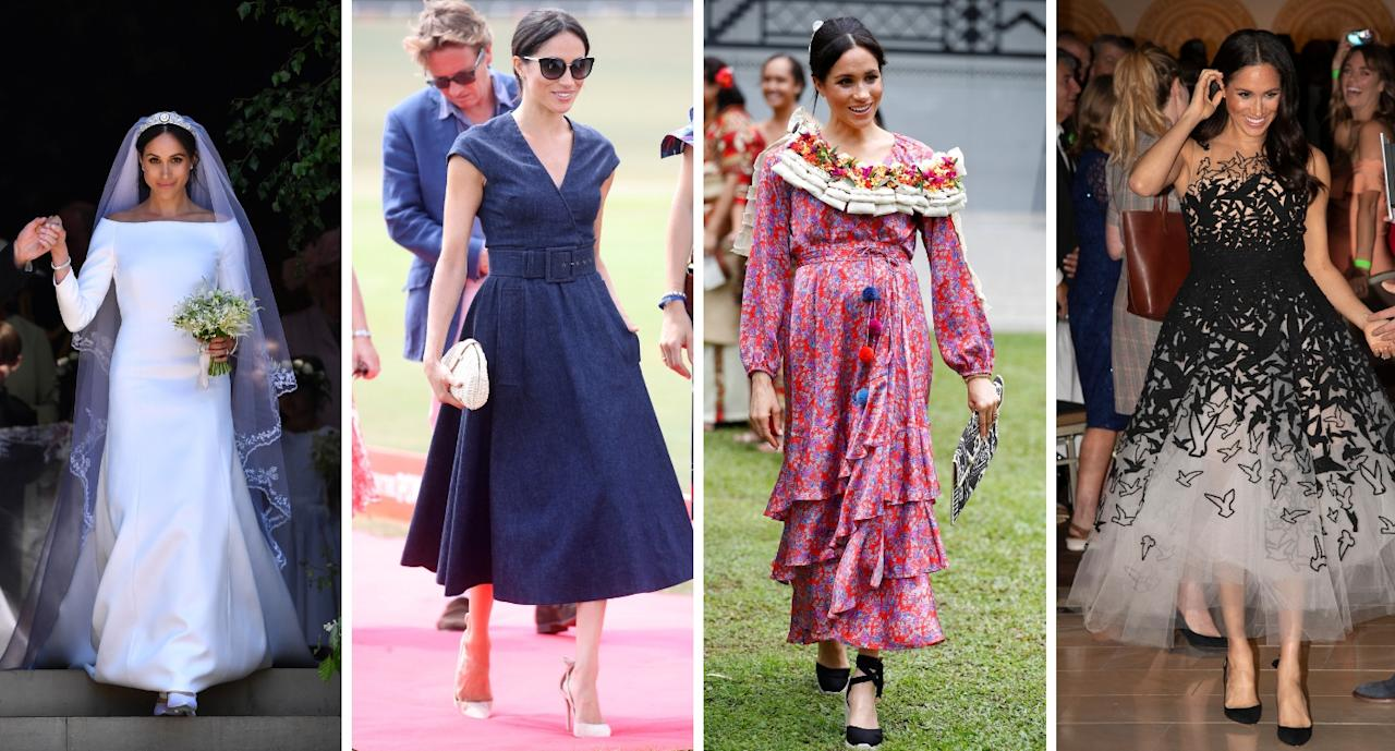 <p>Take a look back at Meghan's most expensive outfits [Photos: Getty] </p>
