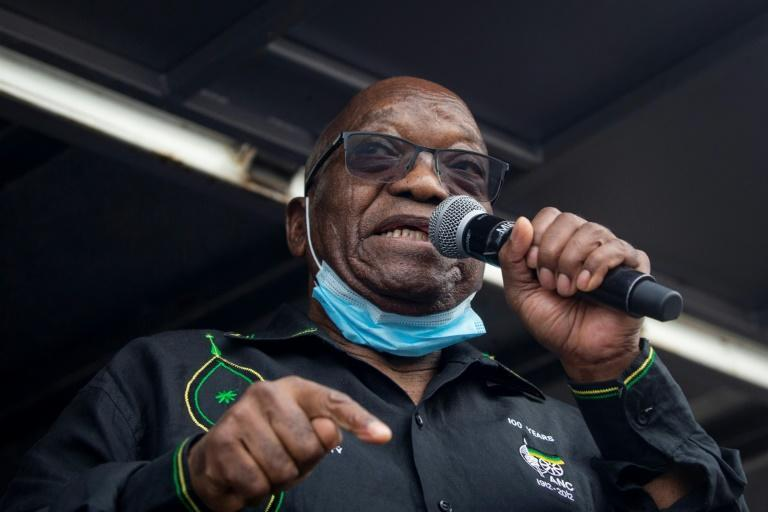 Some supporters took to the streets over the jailing of former president Jacob Zuma