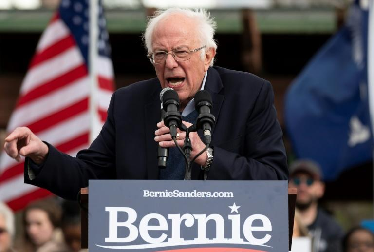 Bernie Sanders, frontrunner for the Democratic presidential nomination, has come under criticism from establishment Democrats for his liberal positions, which they feel will make him vulnerable to President Donald Trump in the November 2020 election (AFP Photo/JIM WATSON)