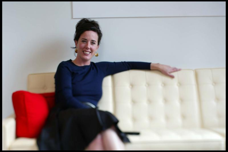 Designer Kate Spade is photographed at her offices. (Photo by David Howells/Corbis via Getty Images)