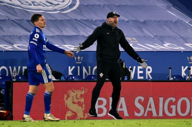 Southampton manager Ralph Hasenhuttl was without some of his key players at Leicester