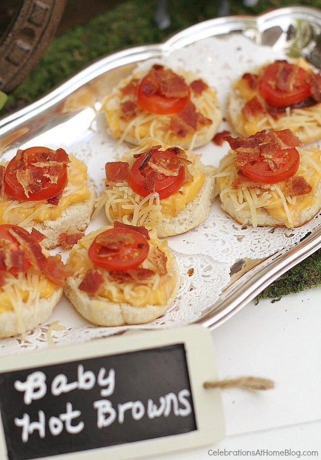 """<p>Make a mini version of the famous Kentucky Hot Brown sandwich for the quintessential Derby Day party dish.</p><p><strong>Get the recipe at <a href=""""http://celebrationsathomeblog.com/2014/04/top-tips-recipes-to-host-the-best-derby-viewing-party.html"""" rel=""""nofollow noopener"""" target=""""_blank"""" data-ylk=""""slk:Celebrations at Home"""" class=""""link rapid-noclick-resp"""">Celebrations at Home</a>.</strong></p>"""