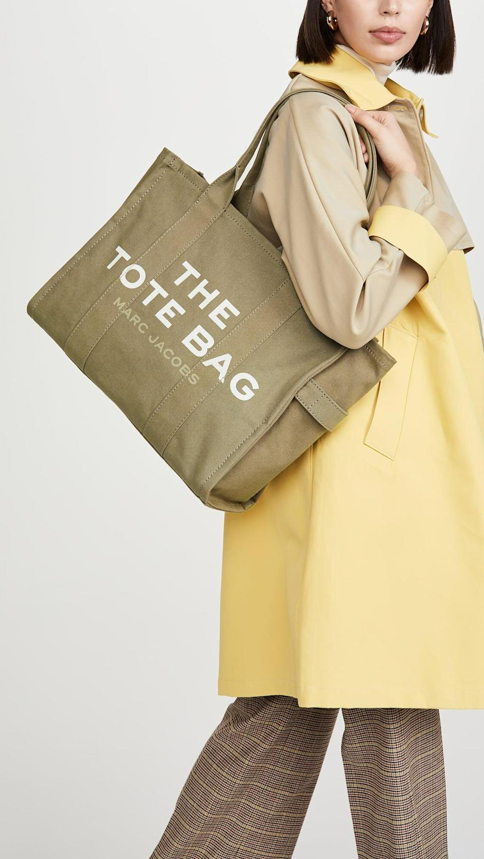 <p>We love the green shade of this <span>The Marc Jacobs Traveler Tote</span> ($195).</p>