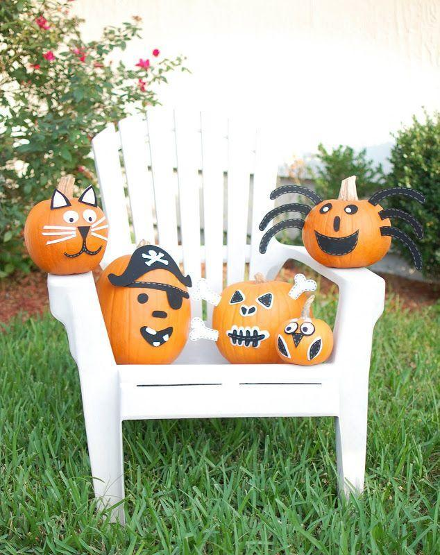 """<p>From spiders to pirates, these Halloween-inspired pumpkin creations will look hauntingly good in your yard. (Add a <a href=""""https://www.countryliving.com/diy-crafts/g28648387/diy-pirate-costumes/"""" rel=""""nofollow noopener"""" target=""""_blank"""" data-ylk=""""slk:pirate costume"""" class=""""link rapid-noclick-resp"""">pirate costume</a> of your own to keep things matchy-matchy!)</p><p><strong>Get the tutorial at <a href=""""http://asmallsnippet.com/2010/10/our-crew-of-creatures.html"""" rel=""""nofollow noopener"""" target=""""_blank"""" data-ylk=""""slk:A Small Snippet"""" class=""""link rapid-noclick-resp"""">A Small Snippet</a>.</strong></p>"""