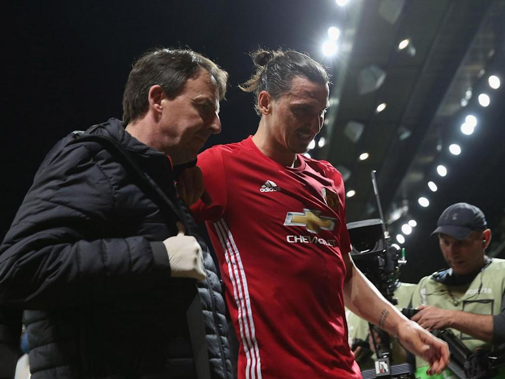 Zlatan Ibrahimovic has rubbished suggestions of retirement after suffering a season-ending injury (Getty)