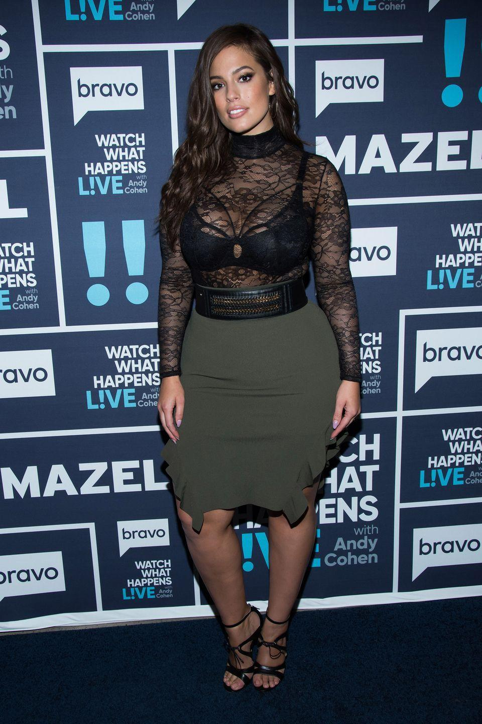 <p>Watch What Happens Live: How to wear a see-through top - just make sure you're wearing a really sexy bra.</p>