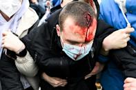 Moscow officials said Sunday that 29 people were taken to hospitals and received medical assistance after the protests