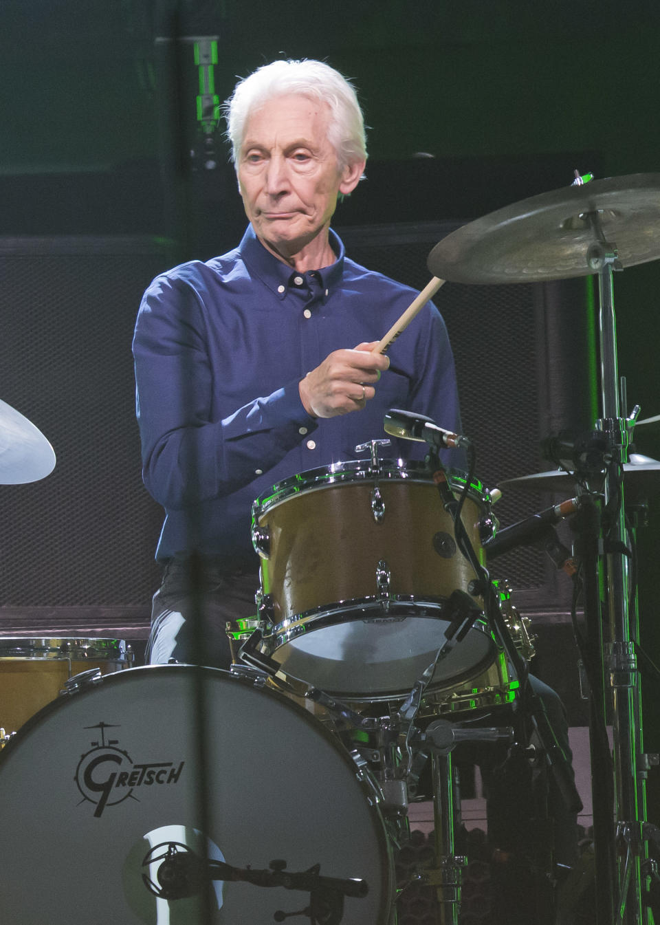 FILE - Charlie Watts of the Rolling Stones performs during the concert of their No Filter Europe Tour 2017 at U Arena in Nanterre, outside Paris, France, on Oct. 22, 2017. Watts' publicist, Bernard Doherty, said Watts passed away peacefully in a London hospital surrounded by his family on Tuesday, Aug. 24, 2021. He was 80. (AP Photo/Michel Euler, File)