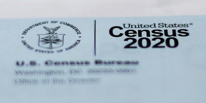 A 2020 census letter mailed to a US resident in Detroit.