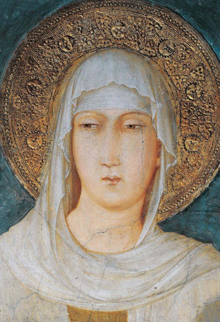"""<a href=""""https://www.ewtn.com/saintsHoly/saints/C/stclareofassisi.asp"""">Clare of Assisi</a>shunned a life of luxury in her wealthy Italian family to devote herself to the burgeoning order of Francis of Assisi. When her parents promised her hand in marriage to a wealthy man in 1211, Clare fled for the Porziuncola Chapel and was taken in by Francis. She took vows dedicating her life to God, and Francis placed Clare provisionally with the Benedictine nuns of San Paolo. Her family, furious at Clare's secret flight, went there to try to drag her home by force, but Clare was resolute. Clare's piety was so profound that her sister, mother and several other female relatives eventually came to live with her and be her disciples in her convent outside Assisi. The group came to be known as the """"Poor Clares"""" and walked barefoot, slept on the ground, abstained from meat, and spoke only when necessary. Clare died in 1253 and was <a href=""""http://www.biography.com/people/st-clare-of-assisi-9249093"""">canonized</a>two years later by Pope Alexander IV."""