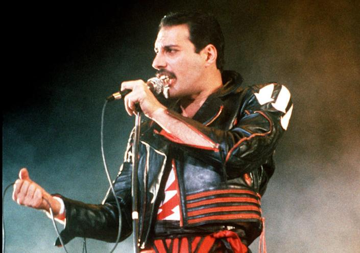 A gritter called Spreaddie Mercury was named after the late Queen singer Freddie Mercury, pictured. (Photo: ASSOCIATED PRESS)