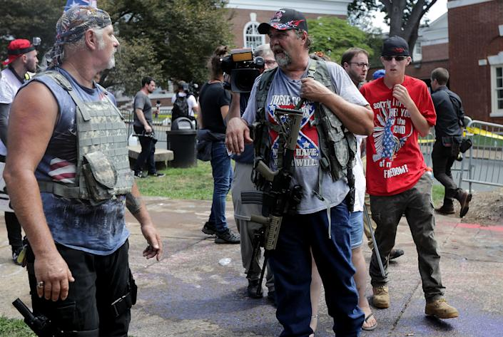 """White nationalists, neo-Nazis, the KKK and members of the """"alt-right"""""""