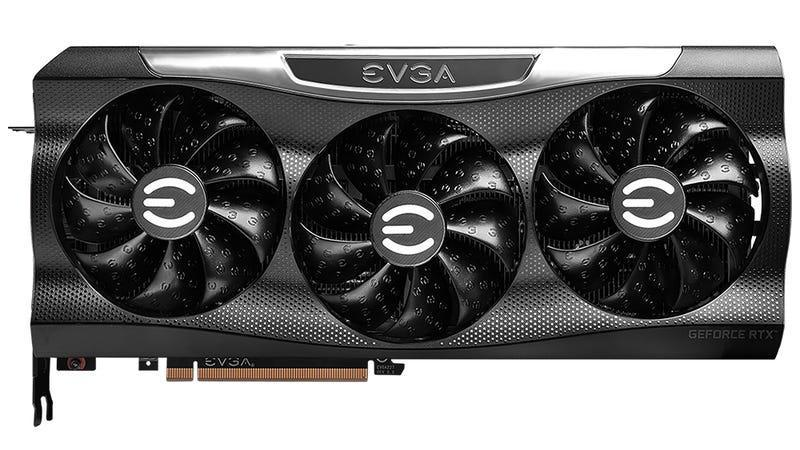 A picture of EVGA's RTX 3090 FTW3 graphics card, which can fail when running New World.