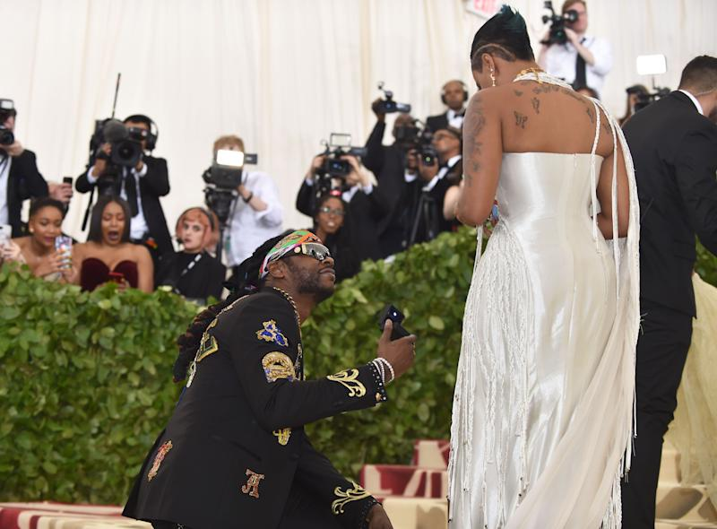 Chainz uses Met Gala red carpet to propose to his girlfriend