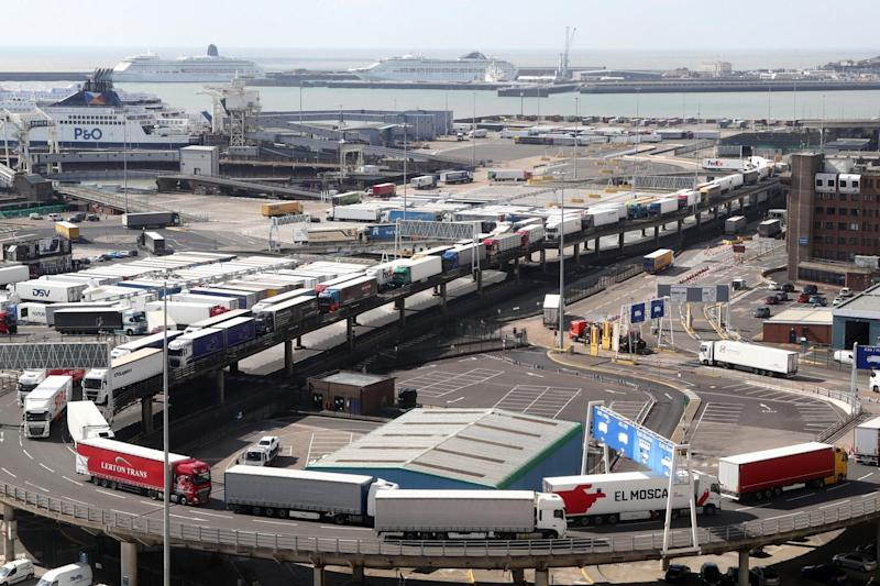 Michael Gove said there are no plans for a post-Brexit lorry park in Dover (PA)
