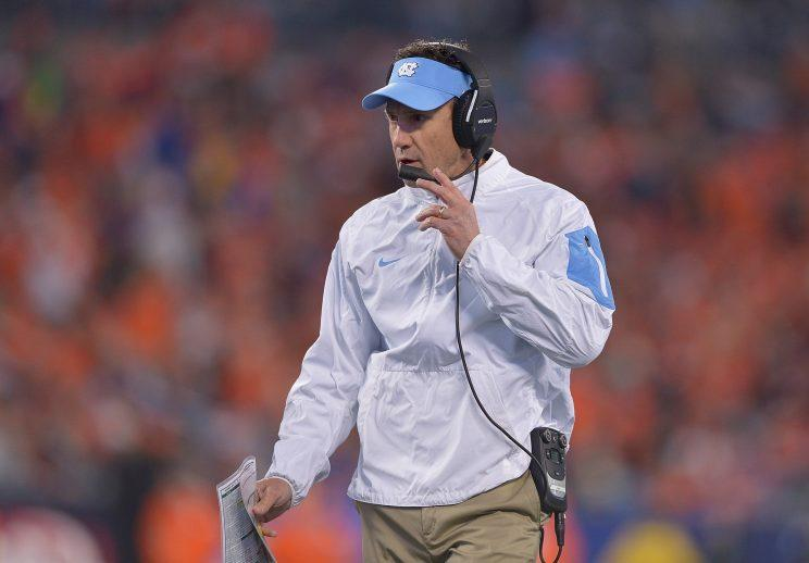 Larry Fedora guided North Carolina to an 8-3 record entering their game against N.C. State. (Getty)