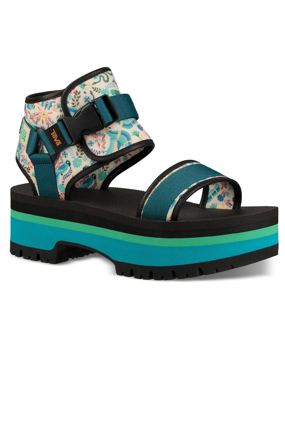 """<p><strong>Teva x Anna Sui</strong></p><p>annasui.com</p><p><strong>$220.00</strong></p><p><a href=""""https://annasui.com/products/teva-x-anna-sui-br-indio-jewell-br"""" rel=""""nofollow noopener"""" target=""""_blank"""" data-ylk=""""slk:Shop Now"""" class=""""link rapid-noclick-resp"""">Shop Now</a></p><p>The Anna Sui and Teva collab is back and girlier than ever for Spring 2021. Before those hit stores, check out this pair from their current offering.</p>"""