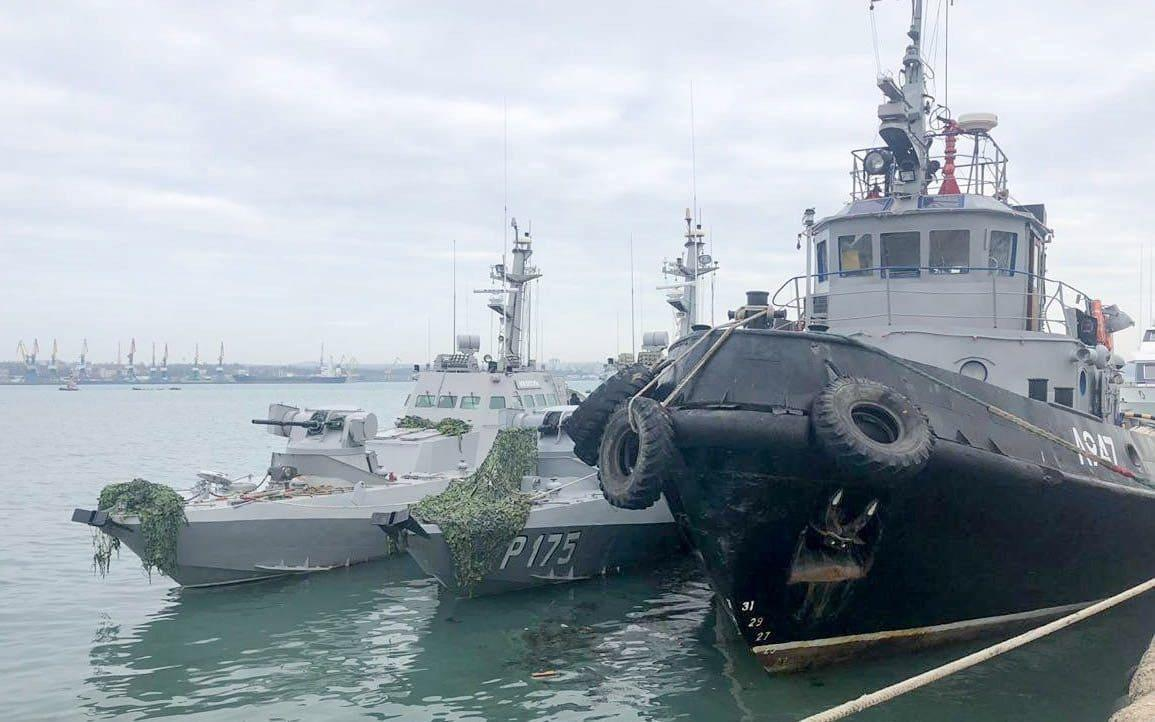 Russia seized three Ukrainian military vessels and their crews after clashes on Sunday - TASS
