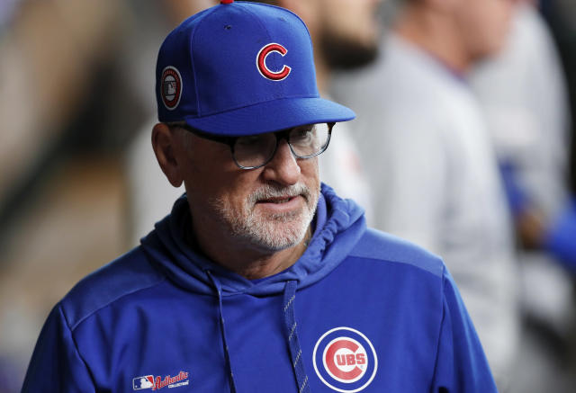 Chicago Cubs manager Joe Maddon couldn't believe some of the balls that left Wrigley Field on Wednesday night. (Photo by Tim Warner/Getty Images)